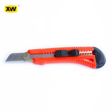 New style plastic cheap knife 18mm snap off blade push lock cutter