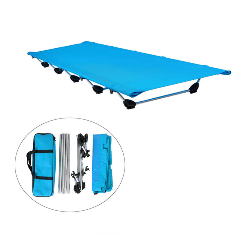Low price single camping bed portable folding Cot for backpacking trip custom Military Army cot one person lunch sleeping cot