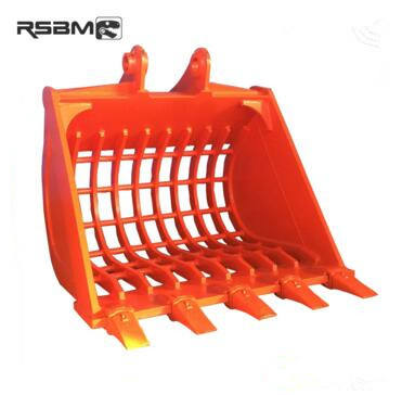RSBM optional types skeleton/sieve/screening bucket with teeth for 8t excavator