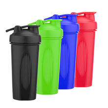 Portable 20 Ounce BPA Free Custom Logo Colorful Plastic Gym Sport Protein Shake Bottle