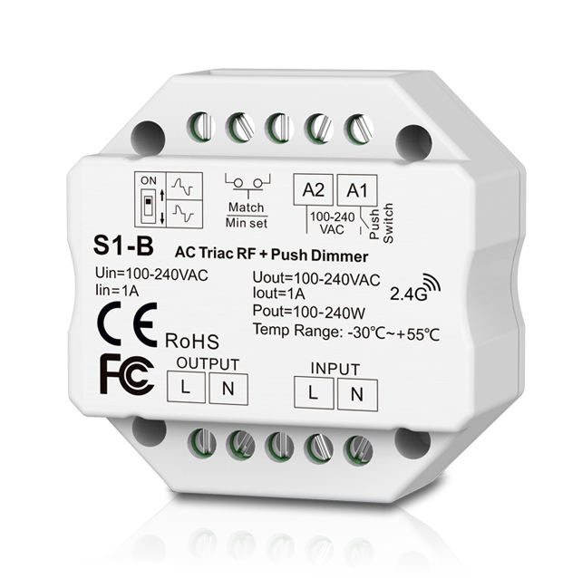 2,4G wireless RF remote Einfarbige LED streifen AC triac LED Dimmer
