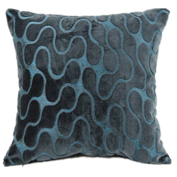 Velvet Luxury Jacquard Velvet Crochet Blue Velvet Moroccan Silk Sofa Cushion Covers Pillows Polyester