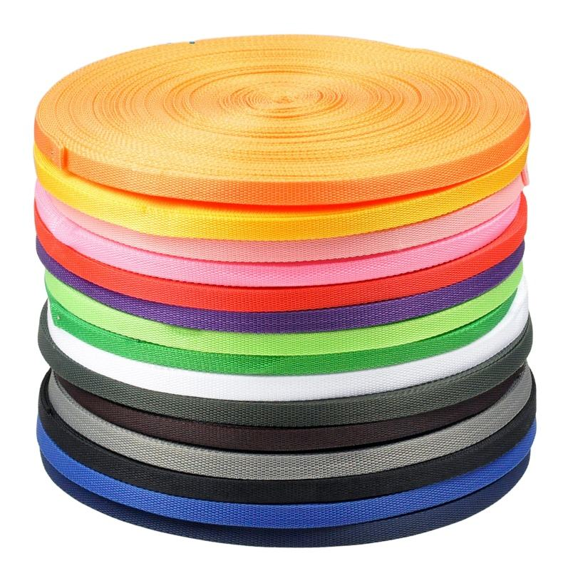 Colorful Polypropylene ribbon packing bags handmade sewing padded webbing tape straps