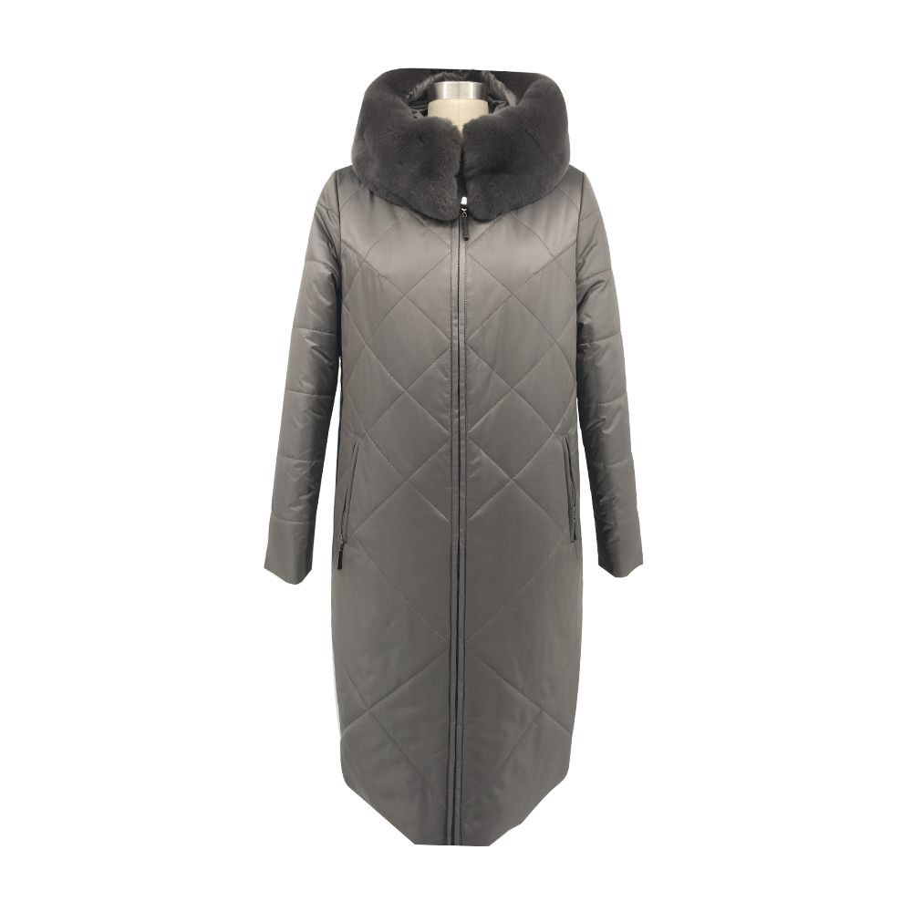 Hot sale hooded large size women's cotton jacket women loose and casual winter real fur collar cotton jacket