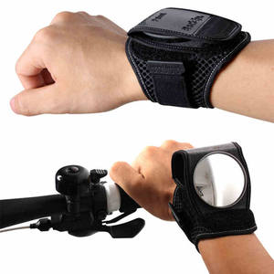 Portable 360 Degree Adjustable Bicycle Wrist Band Wear Rear View Bike Mirror