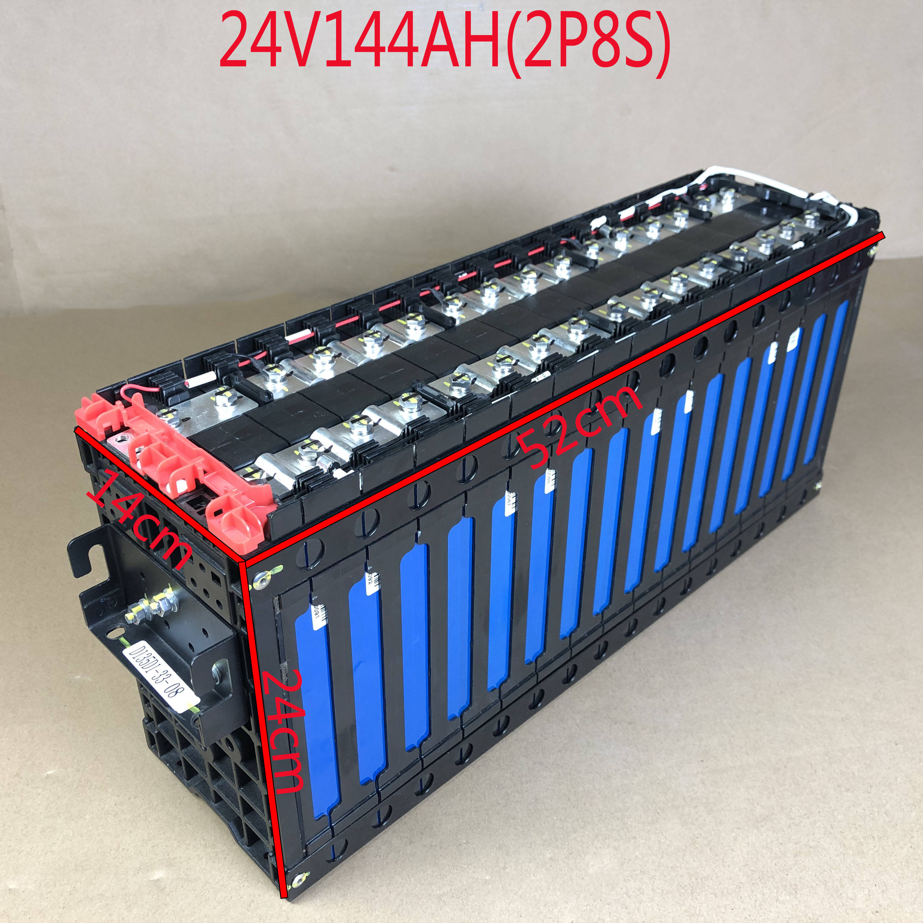 24v144ah2p8s lithium iron phosphate battery pack,Suitable for 24 V power supply scenarios