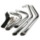 Exhaust Harley XINMATUO XF2906C10-E Staggered Shortshot Exhaust Pipes For Harley Sportster Iron 883 XL 1200 04-13