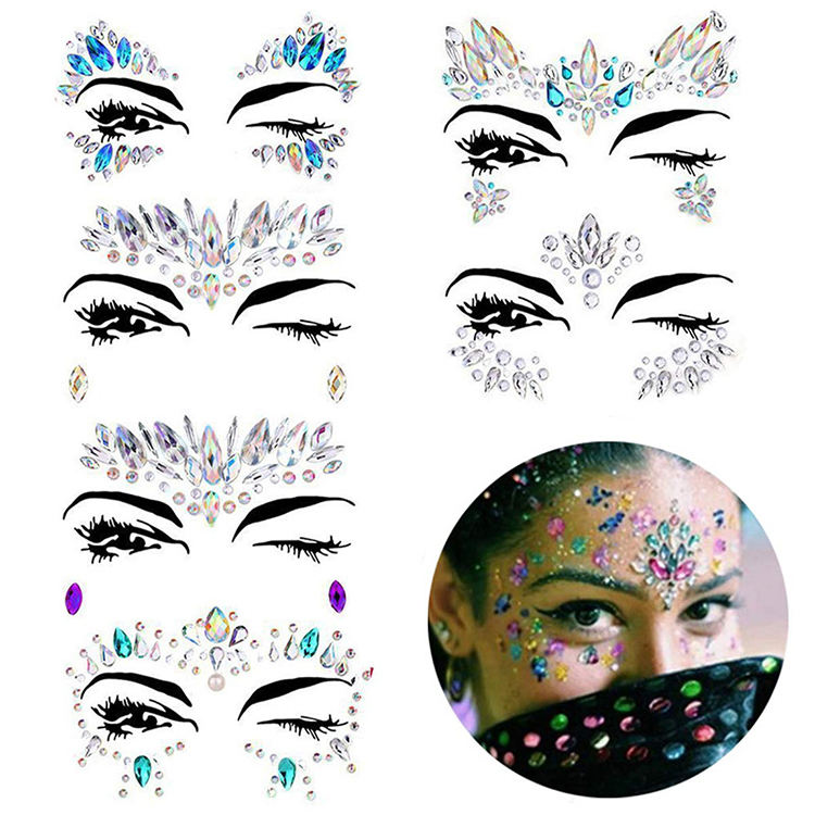 Glitter Gezicht Gems Sticker Voor Festival Party