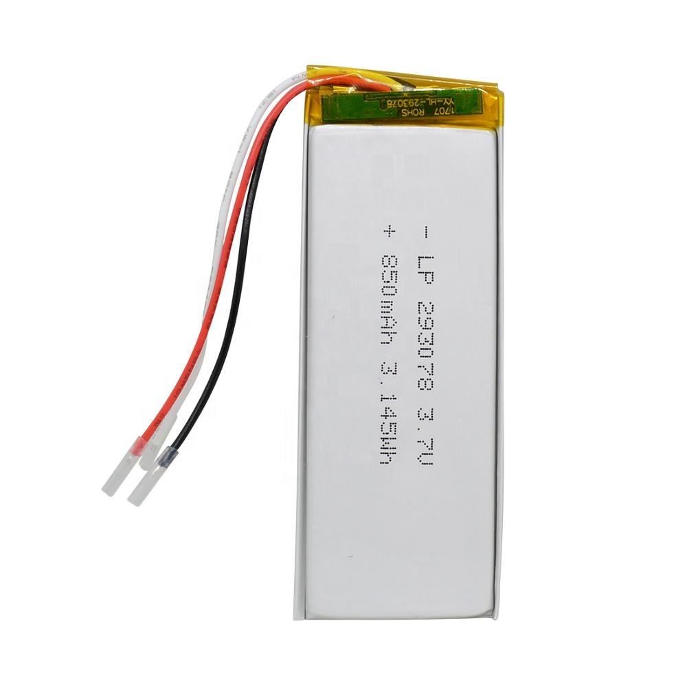 YaBo 293078 3.7V 850mAh Rechargeable Lithium Polymer Battery 3.7v For GPS Digital Camera Gps Charger