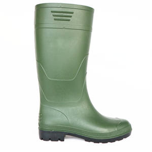 Waterproof and anti-static knee high PVC work rain boots for mining and chemical industry