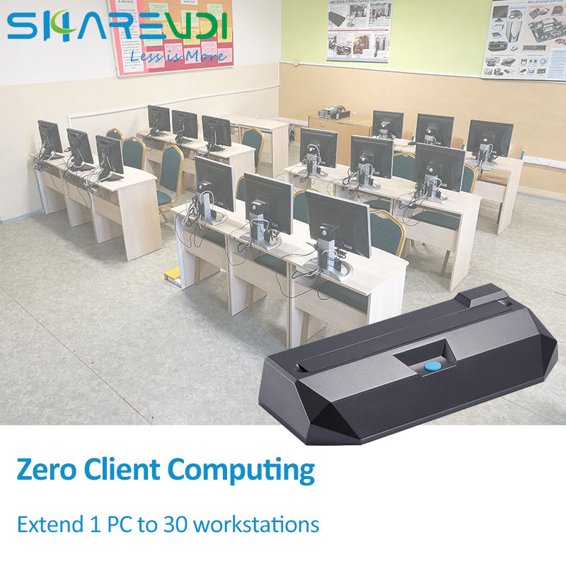 Virtual desktop thin client for education multiple users share one pc thin client computing l300