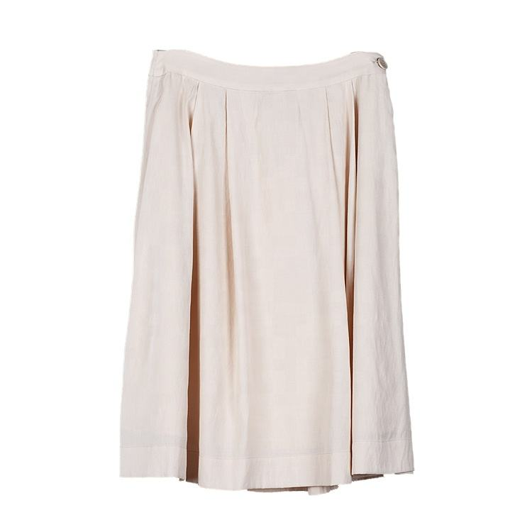 Factory Price Casual Anti-static Dry Cleaning A-Line Beige Women Skirt