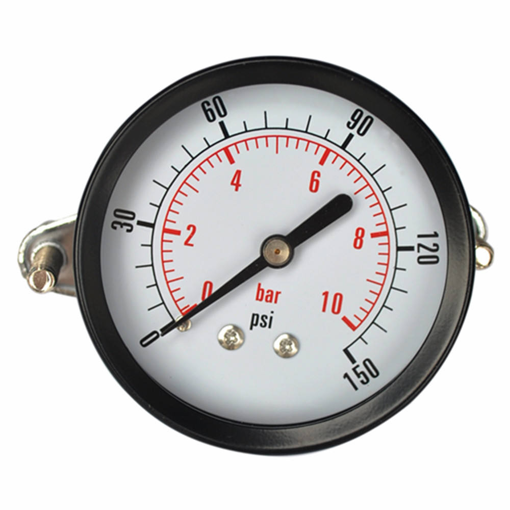 Professional manufacturer air back bar pressure gauge with U-clamp