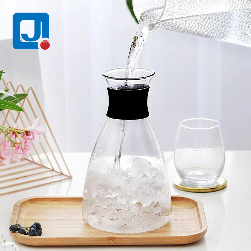 2021 new product 1L high quality lead-free borosilicate glass Danish cold kettle