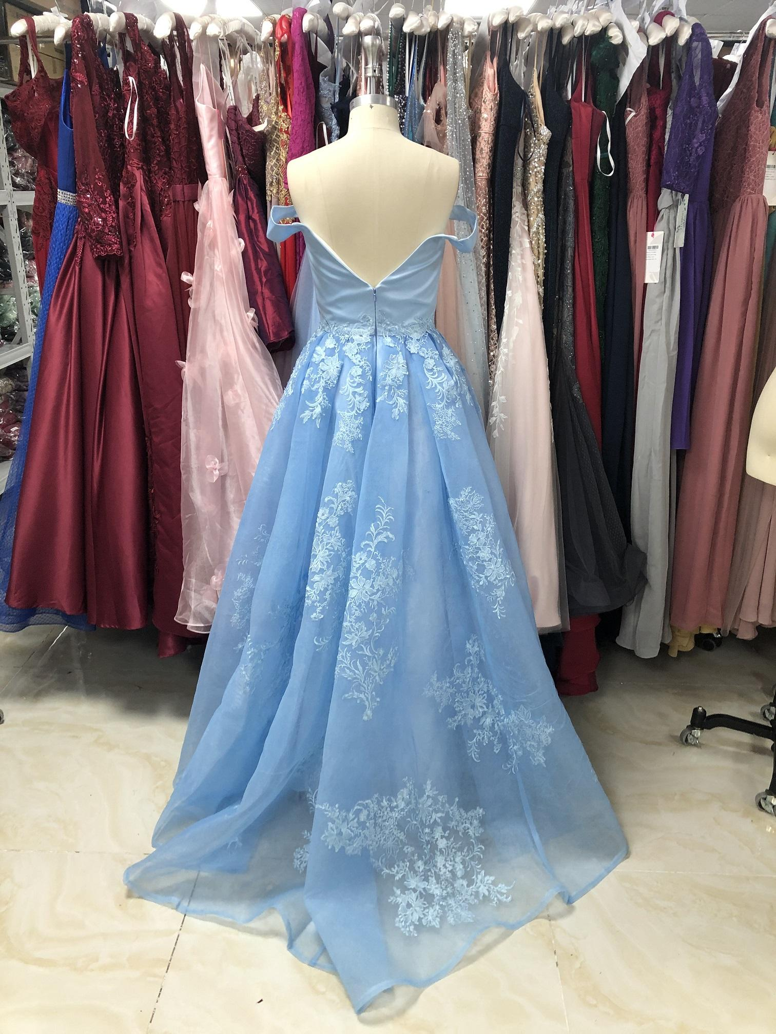 ELPR0000685 Wholesale 2020 Wedding Evening Ball Gowns Dress Lace Appliqued Ball Gown Evening Dress