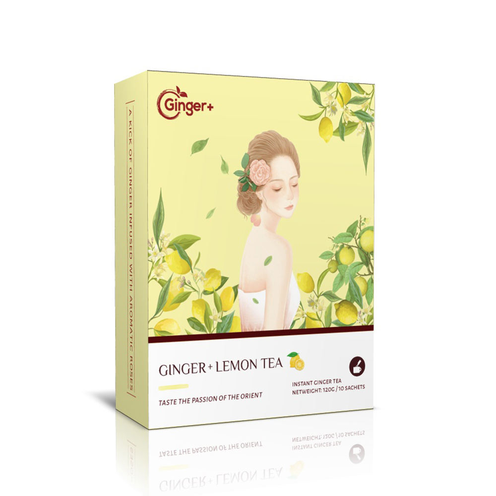 Ginger tea bag turmeric powder with 18 months shelf life prevents flu organic instant tea powder