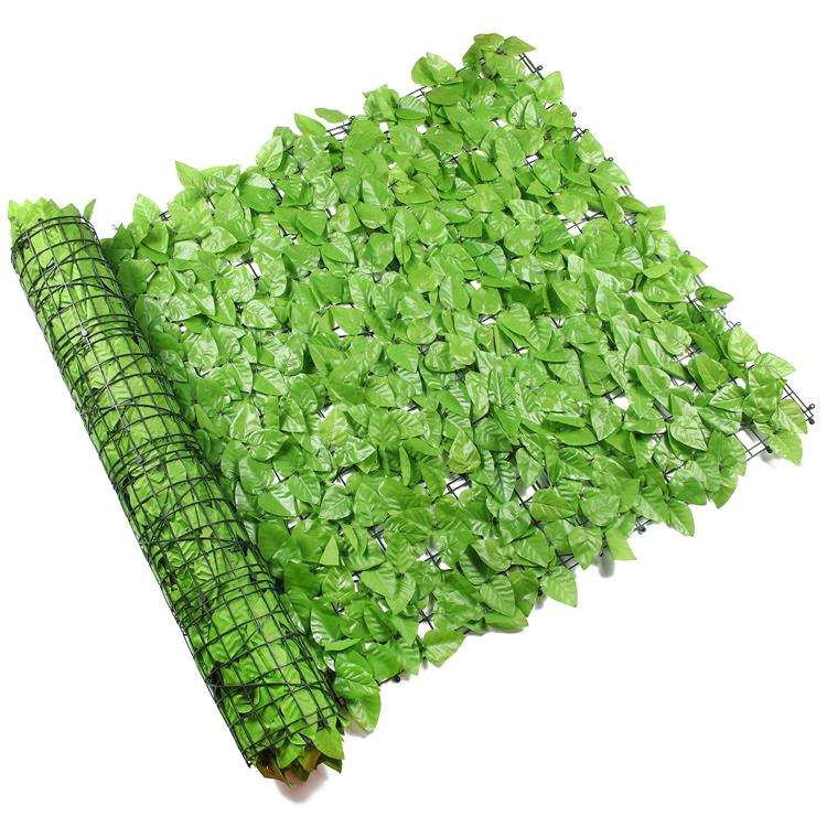 greenery artificial leaf privacy roll fence screen for wall covering decoration