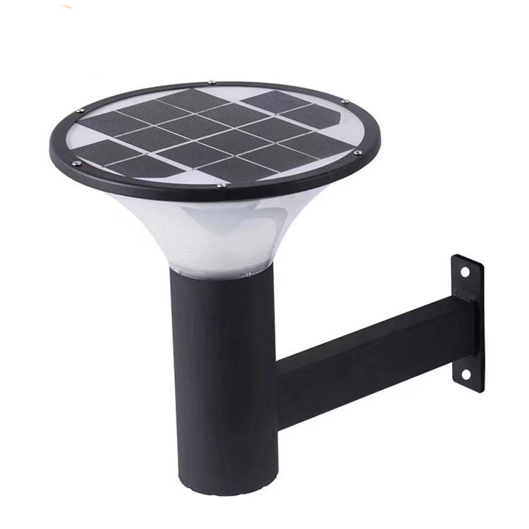 120lm/W Auto On off Night Security round cover Powered Led solar Garden Light Walkway Outdoor