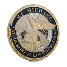 ST.MICHAEL PATRON SAINT OF LAW ENFORCEMENT Double Sided Personalised Laser Engraving Coin