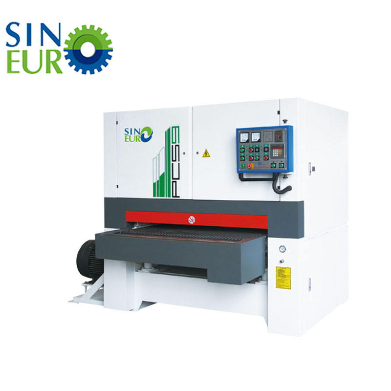 Sinoeuro promotion Wood working machine plywood calibration sanding machine wide belt sander machine