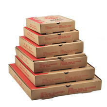 Custom Printed Kraft Paper Pizza Box Carton Rectangular Biodegradable Corrugated Pizza Box with Handle