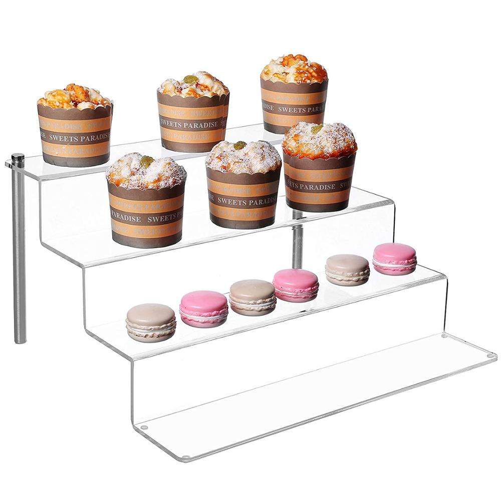 4 Step Cake Display Stand Acrylic Cake Stands For Wedding Cakes