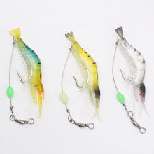 Bass fishing shrimp soft lures fishing