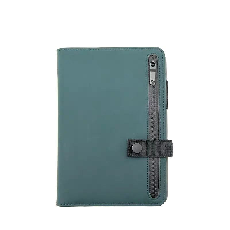 Multi-functional Business 6 Rings Binder Notebook Zipper Diary