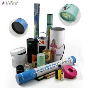 Professional customized printing kraft paper carton tube/paper tube packaging