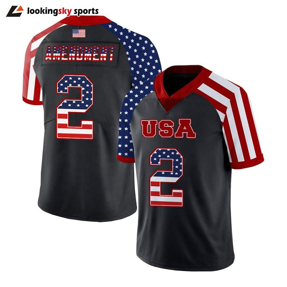 popular sublimation printing USA quickdry NFL club jersey