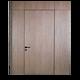 modern flush invisible aluminum and HPL interior door design with hidden hinge