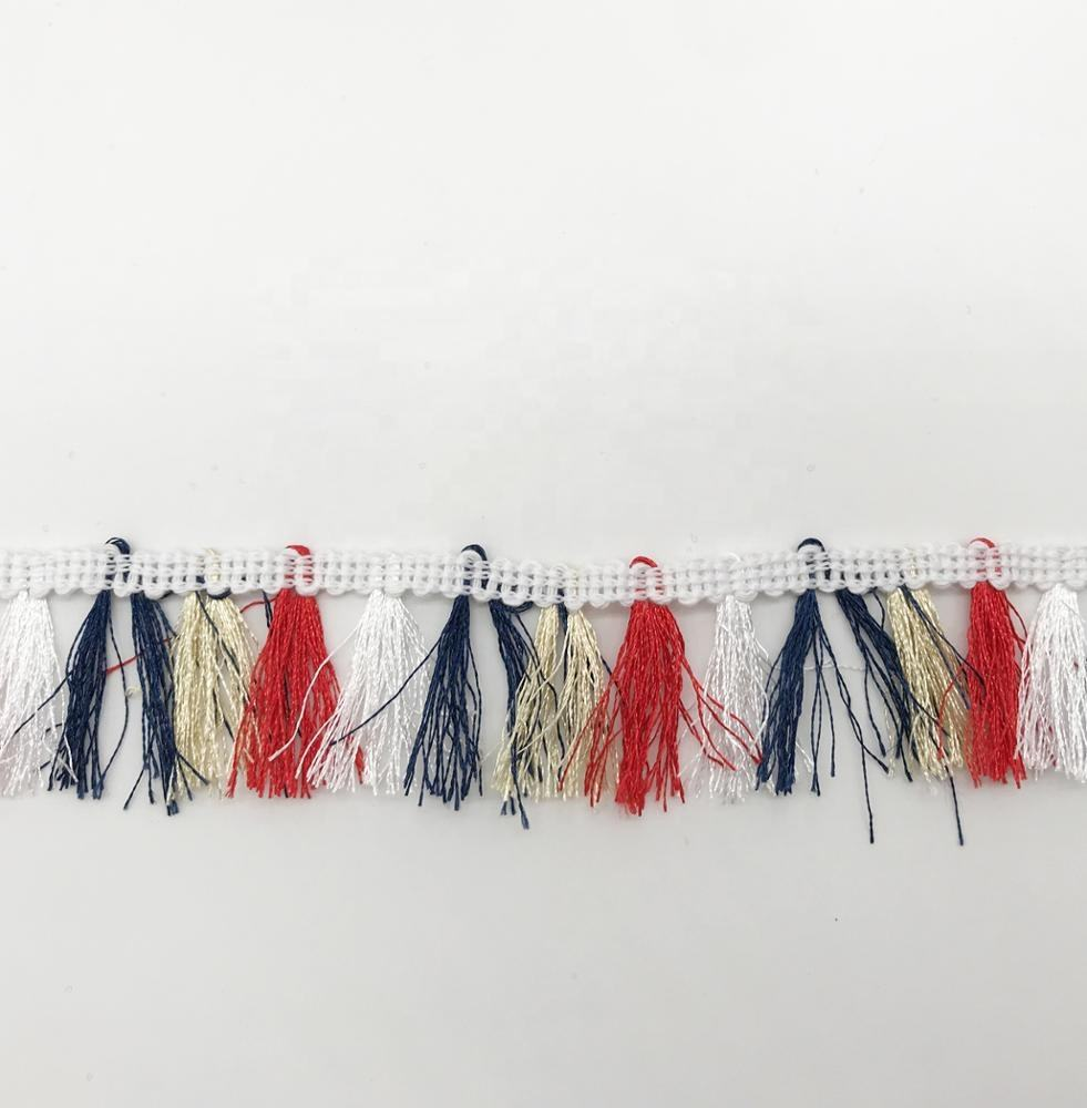Fashion Curtain Tassel Fringes For Dresses Polyester Trim Many Color For Dress Tassel Fringe