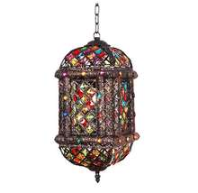 New Vintage Moroccan style Antique Wedding favor hanging metal candle lantern
