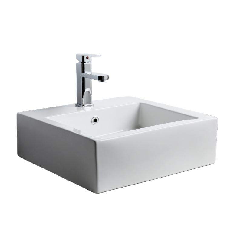 High quality and low price white ware sink wall hanging white ceramic sink