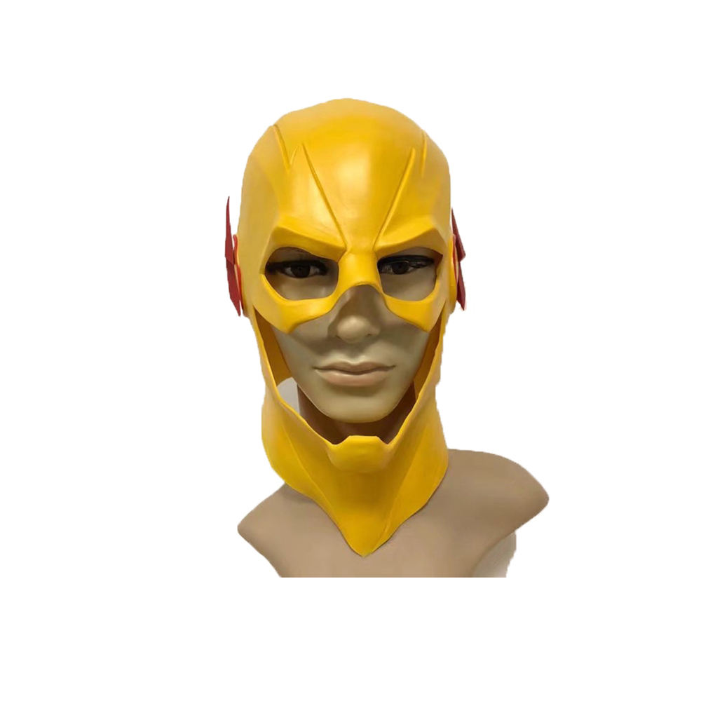 Molezu Marvel Cinematic Universe Mask Fancy Dress Up Halloween Party Cosplay Latex The Flash Yellow Hero Full Head Mask