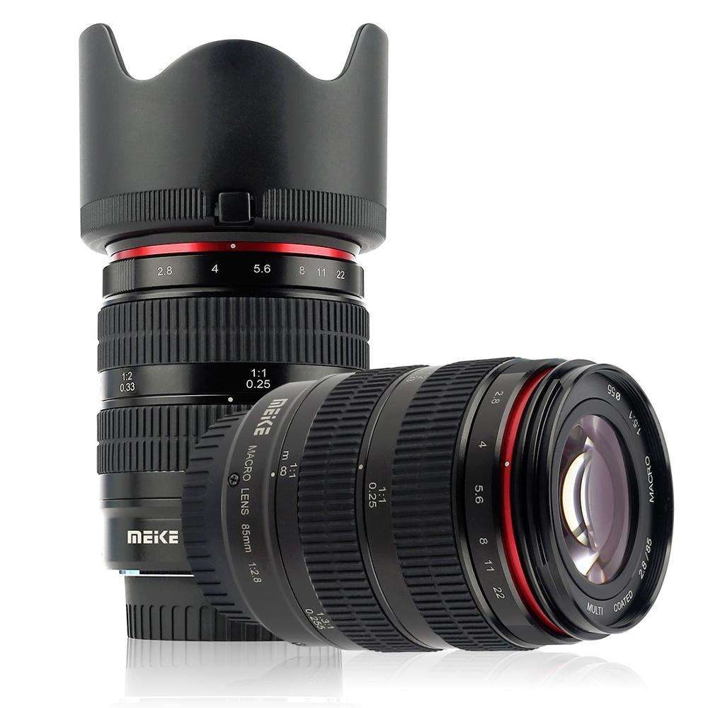 Meike 85mm F2.8 Camera Lens Full Frame 1.5:1 Macro for Sony E Mount for Camera Canon Fujifilm M4/3 Nikon Camera Lens