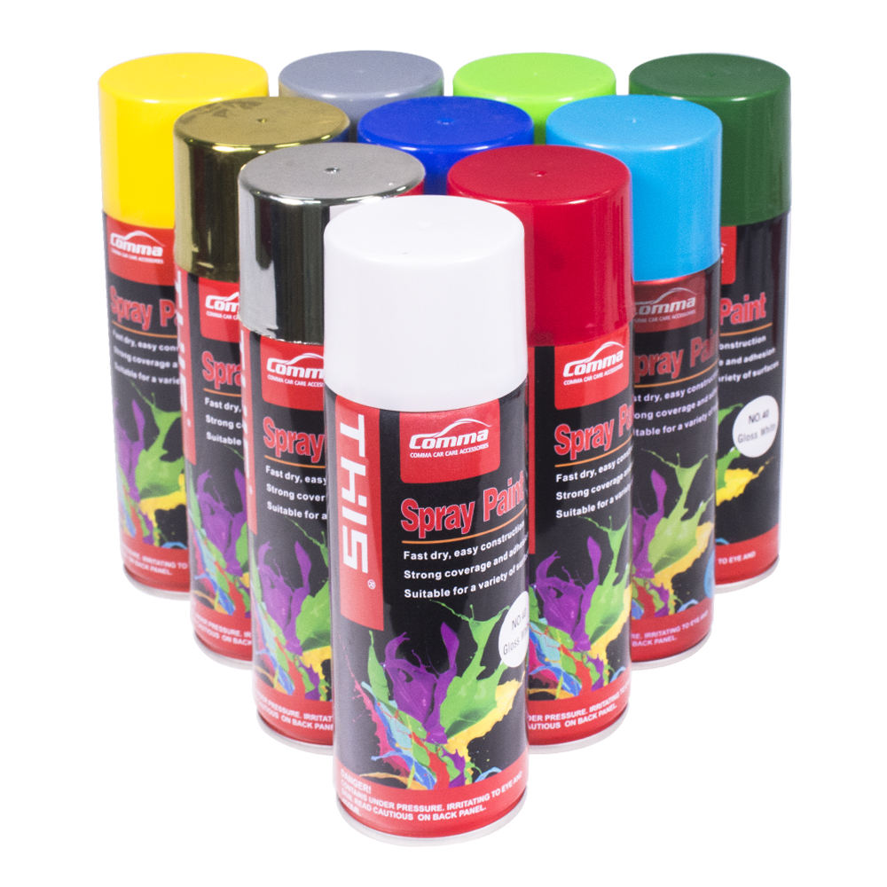 wholesale 450ml high heat car colors graffiti chrome metallic auto aerosol acrylic plastic pintura en furniture spray paint
