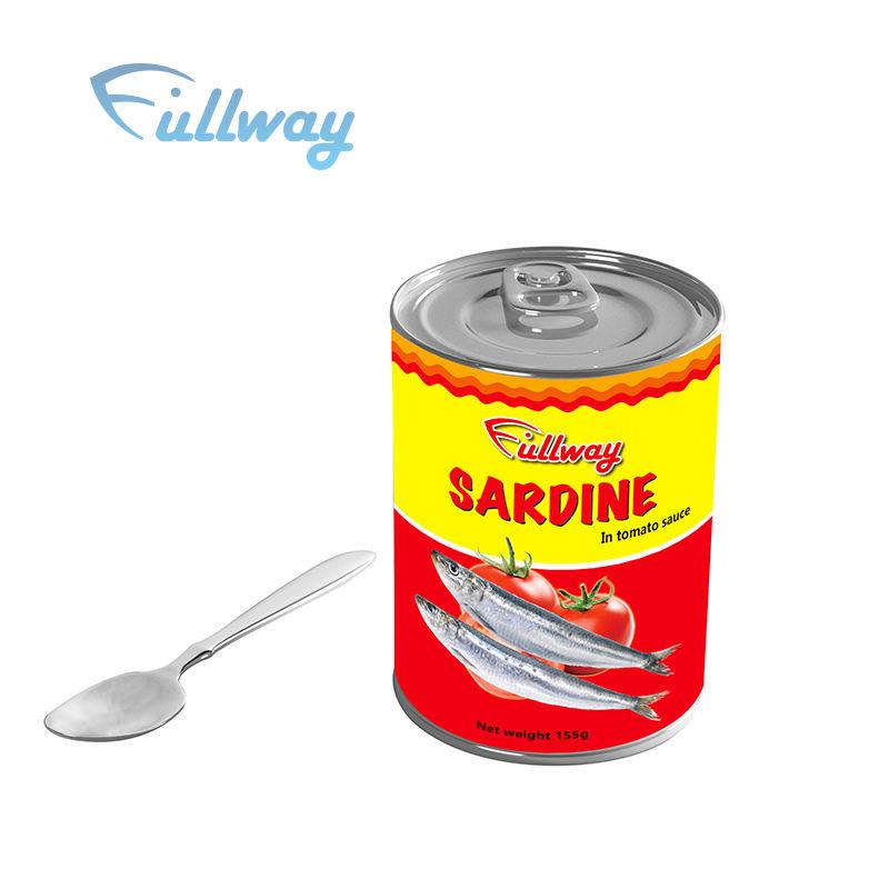 Fustigazione Sardine di Pomodoro di Esportazione Per Filippine