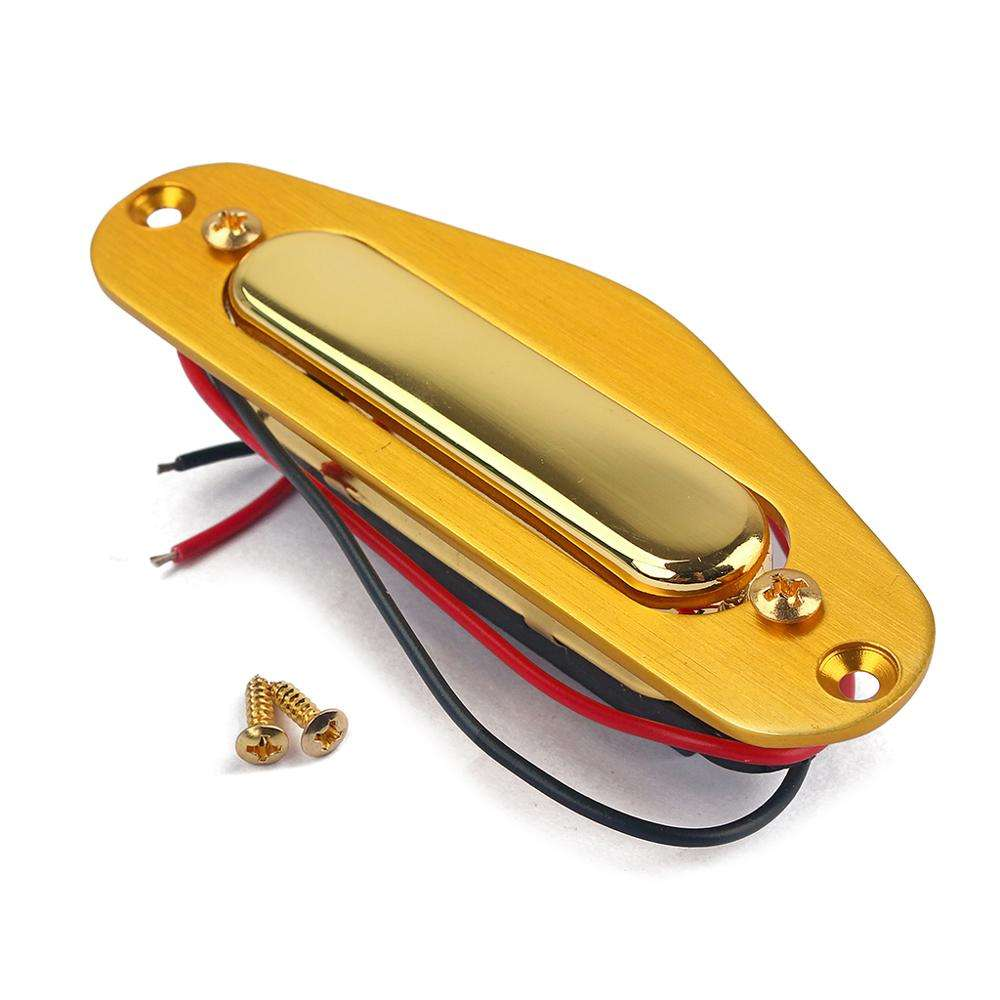 GMA311 Magnet Neck Sound Pickup TL YELLOW GOLD Case For Fender Telecaster Wooden Electric Guitar Bass