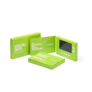Smart marketing tool good quality 2.4inch video business card digital lcd brochure