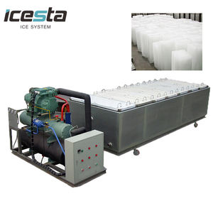 Containerized บล็อก ICE Plant brine Cooling BLOCK ICE เครื่องทำขาย