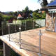 Stainless Steel Post YL Flooring Stainless Steel Outdoor Frameless Middle Balustrade Post