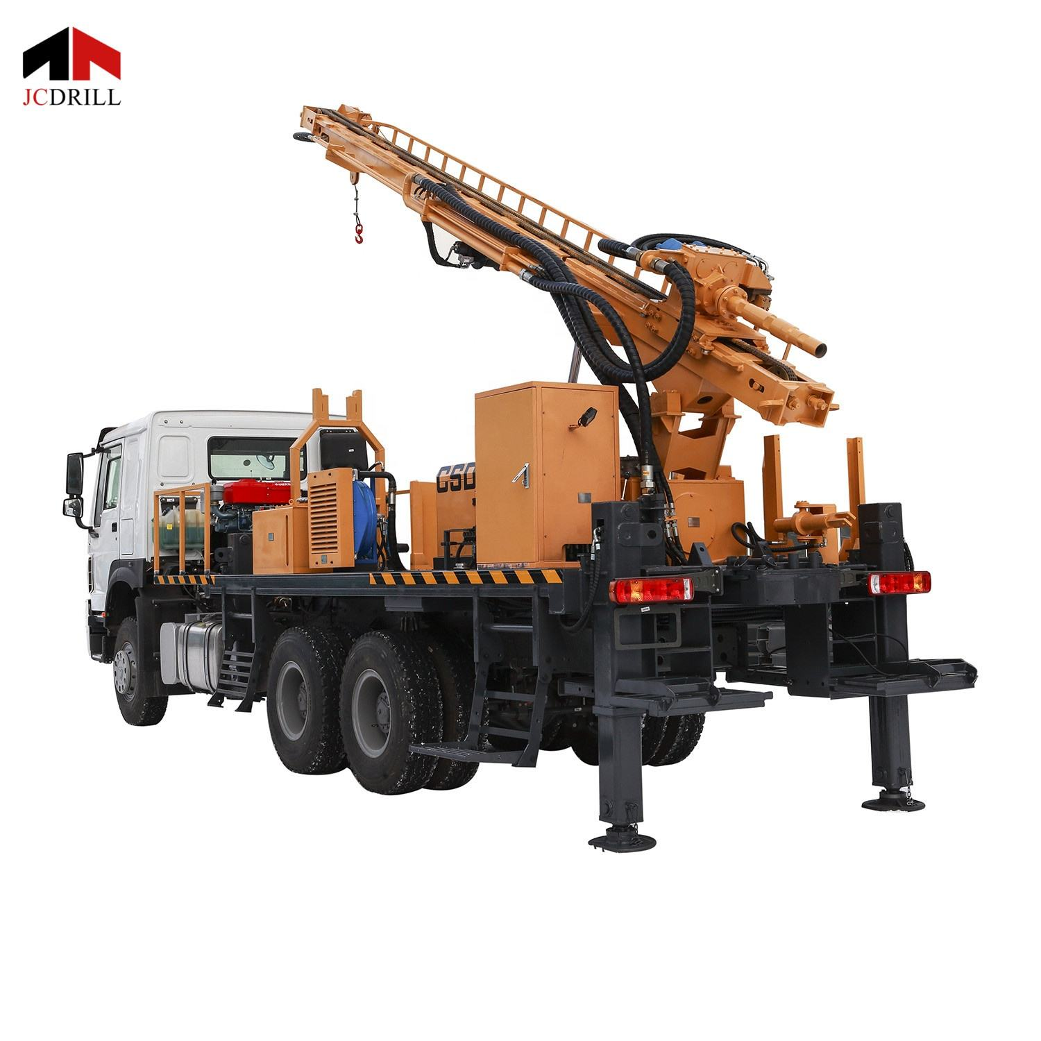 Truck mounted bore hole water well drilling rig for sale