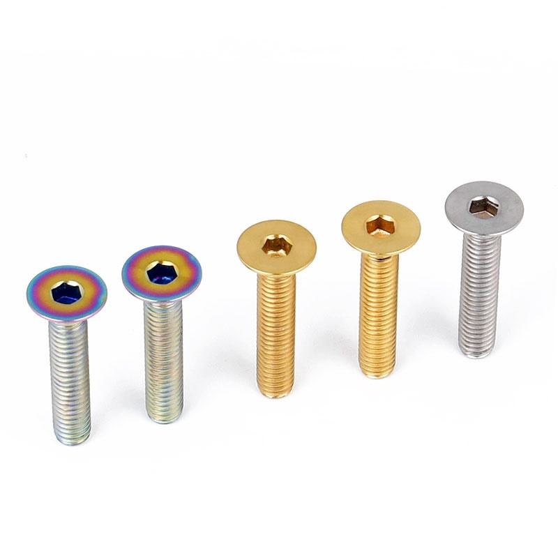 Colorful Anodized DIN 7991 Countersunk Titanium screws