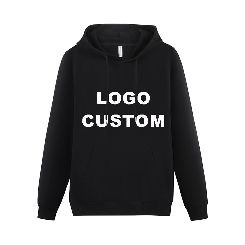 OEM Factory Wholesale Hoodie Sweatshirt Cotton Long Sleeve Custom Logo Printing Oversize Black Pullover Hoodies