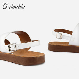 new sandals designs Ladies Pu Women Flat Sandals