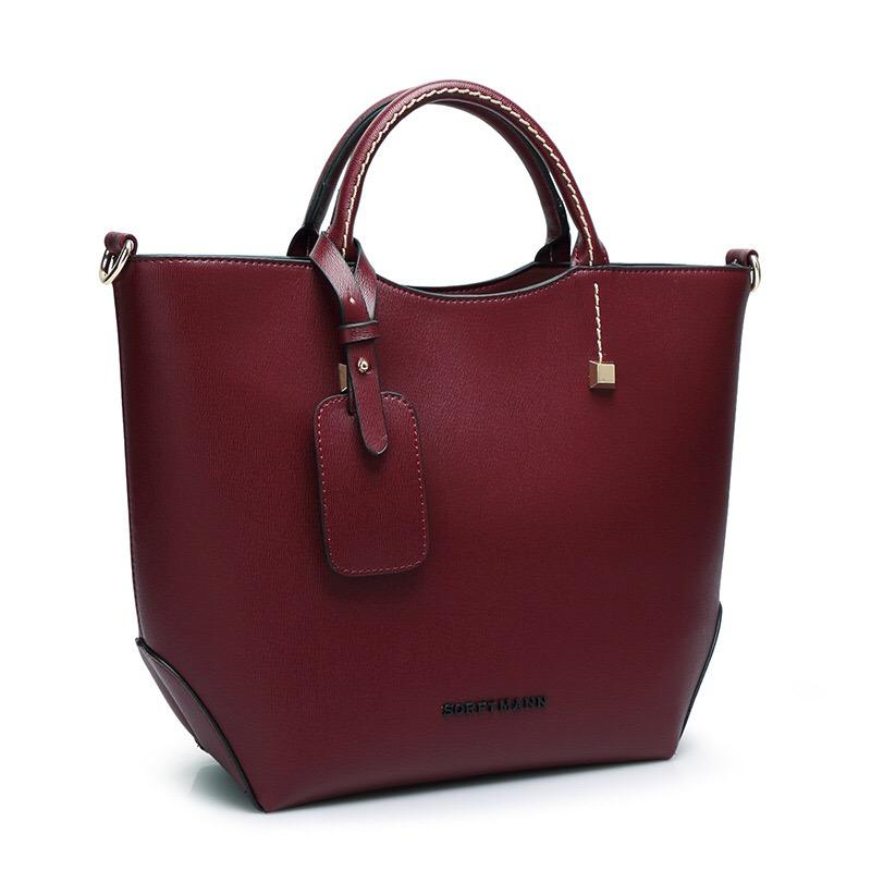 Women Work Business Shoulder Bag Large Capacity PU Leather Tote Bag