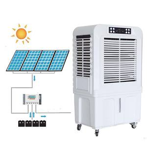DC Air cooler with solar panels and batteries 220V/12V Solar Rechargeable Air Cooler with Battery floorstanding air cooler