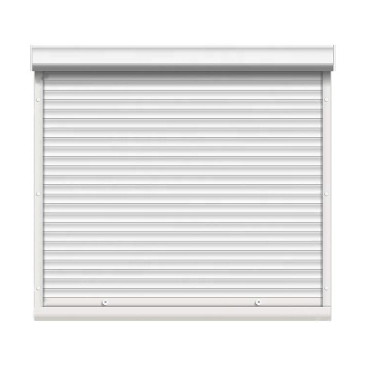 CE Anti-theft fireproof aluminum roller shutter window,