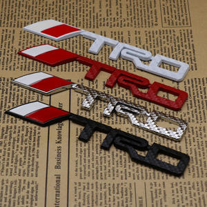 Metal Carbon Fiber TRD Letter Car Sticker 3D Car Body Emblem Badge Sticker for Toyota Auto Accessories